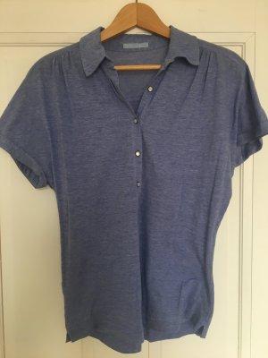Strenesse Blue Short Sleeved Blouse azure cotton