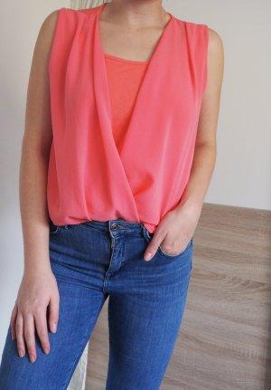 Bluse / T-Shirt, lachs/pink, Gr. M