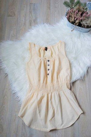 Bluse Tailliert hellbeige creme mit Knöpfen NEU