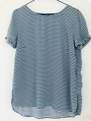 Bluse Tom Tailor Gr. 38 blauweiß-quergestreift
