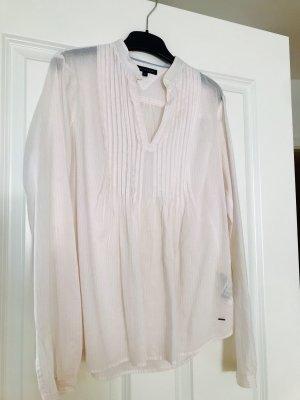 Tommy Hilfiger Blusa de manga larga blanco-rosa claro