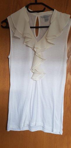 H&M Top à volants blanc