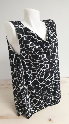 CANADA Cowl-Neck Top white-black