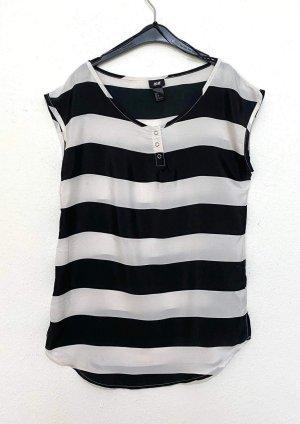 H&M Top basic czarny-biały