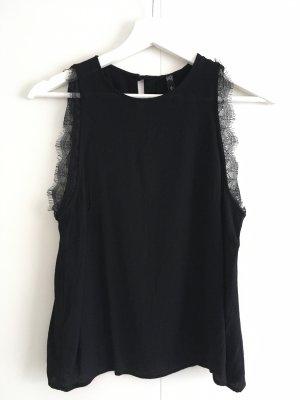 Mango Camisa de mujer negro