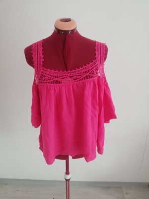FB Sister Off-The-Shoulder Top raspberry-red