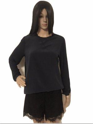 Woolrich Long Sleeve Blouse blue silk