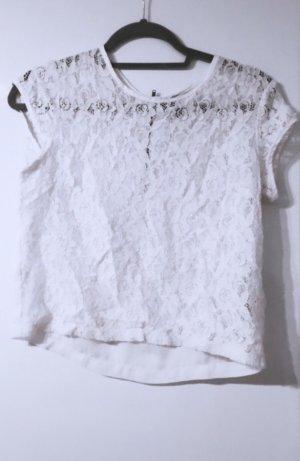 Bluse top shirt hemd tshirt oberteil spitze elegabt abendb