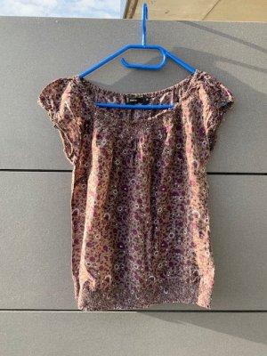 Bluse Top Shirt Zero Gr. 38 S Seide