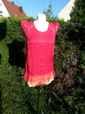 Bluse Top T-Shirt Shirt Sommer Vero Moda, Gr. M/38/36/S Neu pink Büro Rüschen