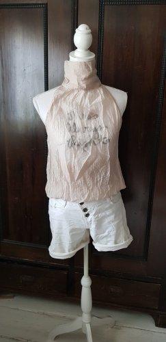 Freesoul Camisa de mujer beige claro