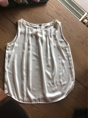 Bluse Top Zara Schick Gr 40 wollweiss