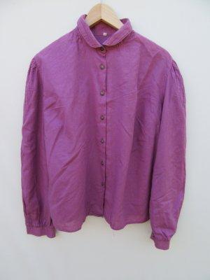 Bluse Trachtenbluse lila Vintage Retro Gr. XL