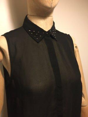 Bluse transparent mit Nieten am Kragen Größe 36/38