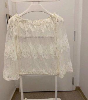 Bluse, transparent , schulterfrei