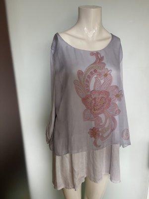 Bleifrei Kimono blouse lichtrood-azuur