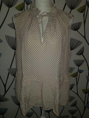 H&M Bluzka tunika kremowy