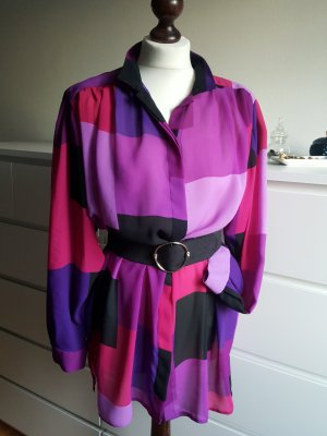 Vintage Oversized blouse veelkleurig