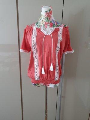 Sienna Shirt Tunic bright red