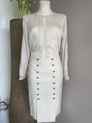 Banana Republic Heritage  Spódnica midi w kolorze białej wełny-kremowy