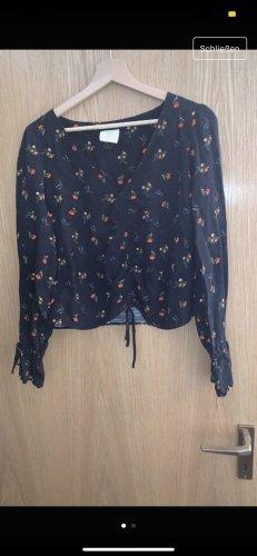 Bluse urban outfitters, Größe M, schwarz mit Blumen