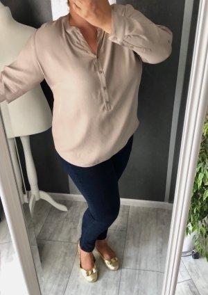Bluse • V-Ausschnitt • beige/ nude Gr. 50/52