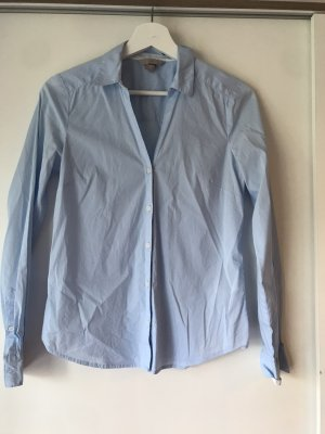 Bluse V-Ausschnitt hellblau