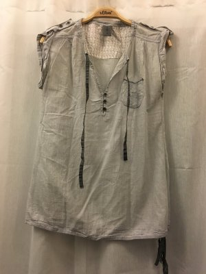 Bluse Vero Moda, Gr. S, grau-blau, neuwertig, NP 35€