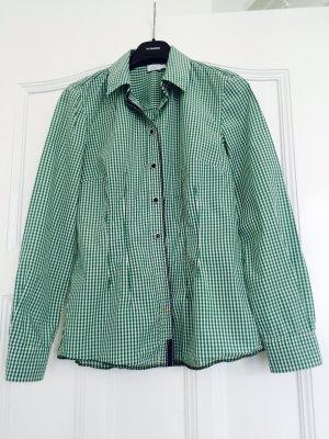 Alba Moda Bluzka w kratę biały-zielony Bawełna