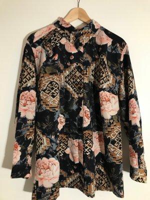 ohne Marke Oversized blouse veelkleurig Gemengd weefsel