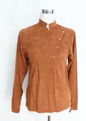 Bluse Vintage Gr. 36 Waschlederhemd Lederhemd