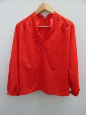 Bluse Vintage Retro orange/rot Gr. 42