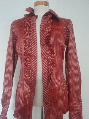 Apart Połyskująca bluzka złoto-ciemnoczerwony