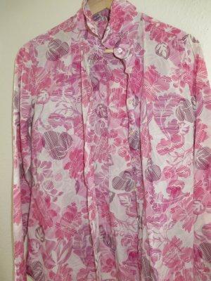Bluse von 0039, Gr. M, florales Muster, pink