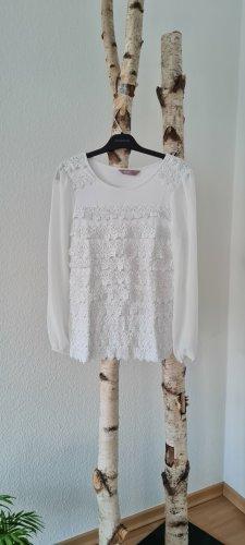a wear Blouse met lange mouwen wit