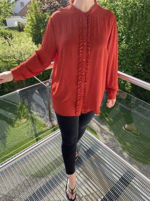 Adagio Blusa de manga larga rojo-rojo ladrillo