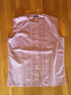 Aspesi Checked Blouse violet-pink cotton