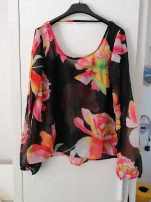 Amisu Transparent Blouse multicolored