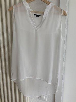 Amisu Transparentna bluzka biały