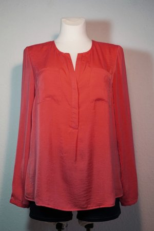 Ann Christine Long Sleeve Blouse bright red polyester