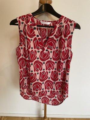 Anonyme Designers Blouse met korte mouwen rood-roze