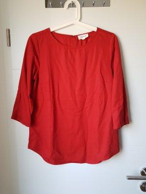 Armedangels Short Sleeved Blouse red
