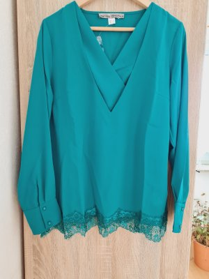 Ashley Brooke Blusa de encaje verde
