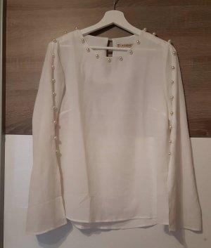AZAKA Paris Bluzka z długim rękawem biały