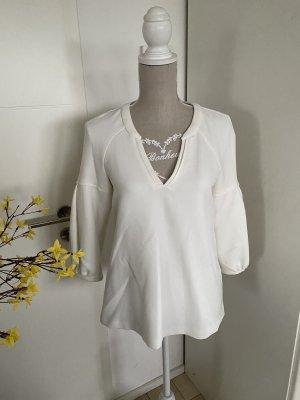 Ba&sh Bluzka z długim rękawem w kolorze białej wełny-biały