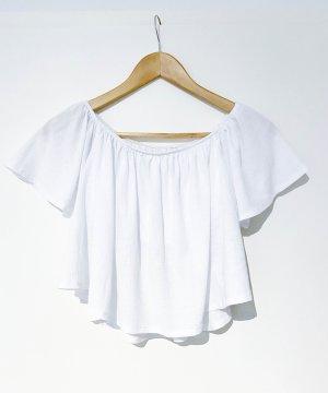 Bershka Carmen Blouse white polyester