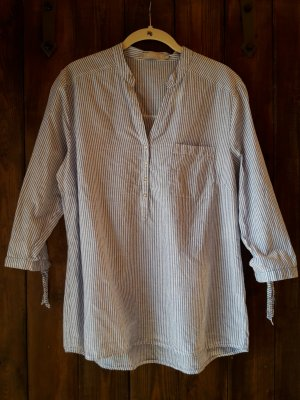 Betty & Co Slip-over blouse wit-korenblauw