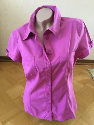 Biaggini Shirt Blouse neon pink cotton
