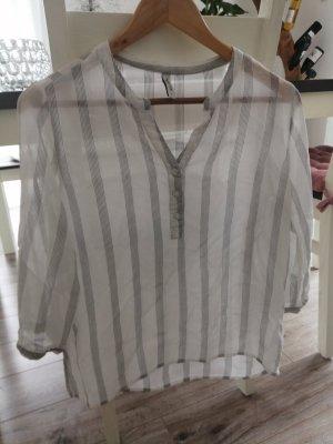 BlendShe Transparent Blouse white-grey