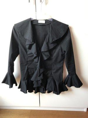 Ruffled Blouse black